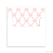Bow Birth Announcement Lined Envelopes