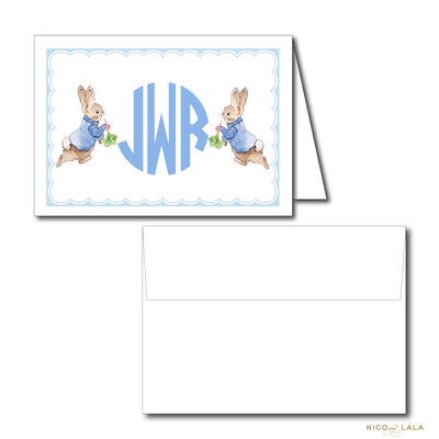 BOY PETER RABBIT BIRTHDAY THANK YOU NOTES