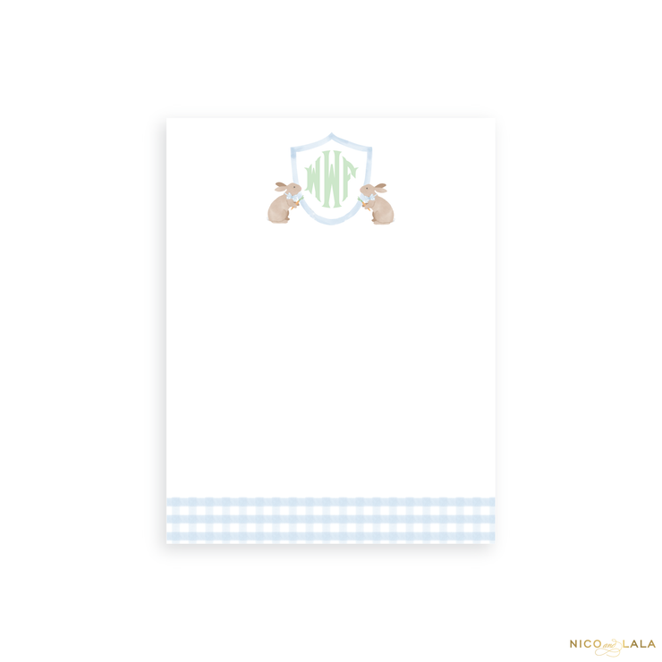 Petite Bunny Notepad, Blue