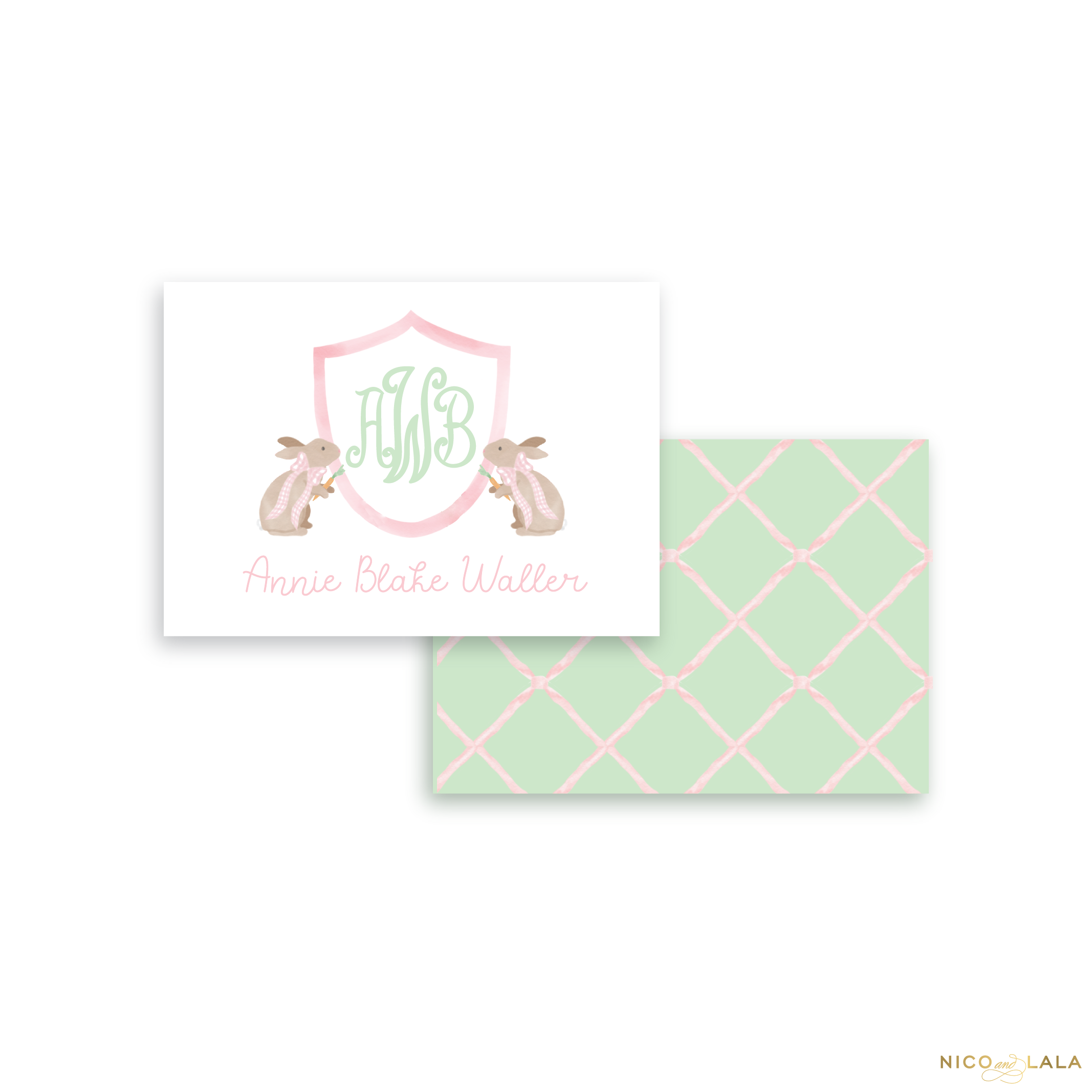 Bunny Calling Cards, Pink