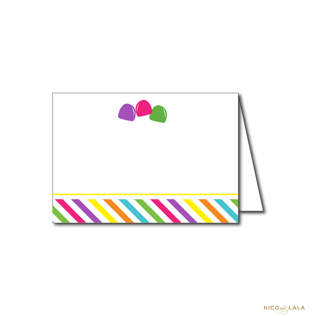 CANDY LAND BIRTHDAY FOOD CARDS
