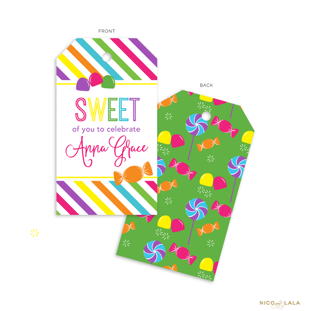 Candy Land Birthday Favor Tags