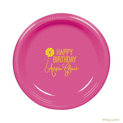 Candy Land Birthday Plates