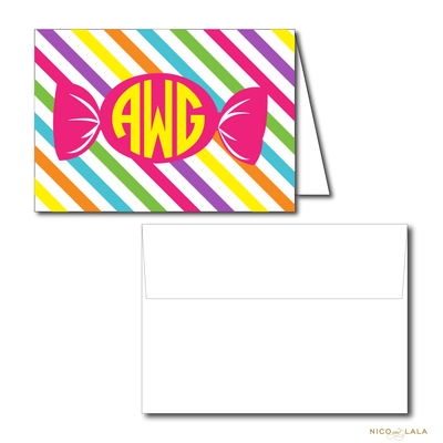 CANDY LAND BIRTHDAY THANK YOU NOTES