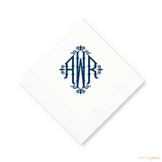 Charleston Monogram Cocktail Napkins