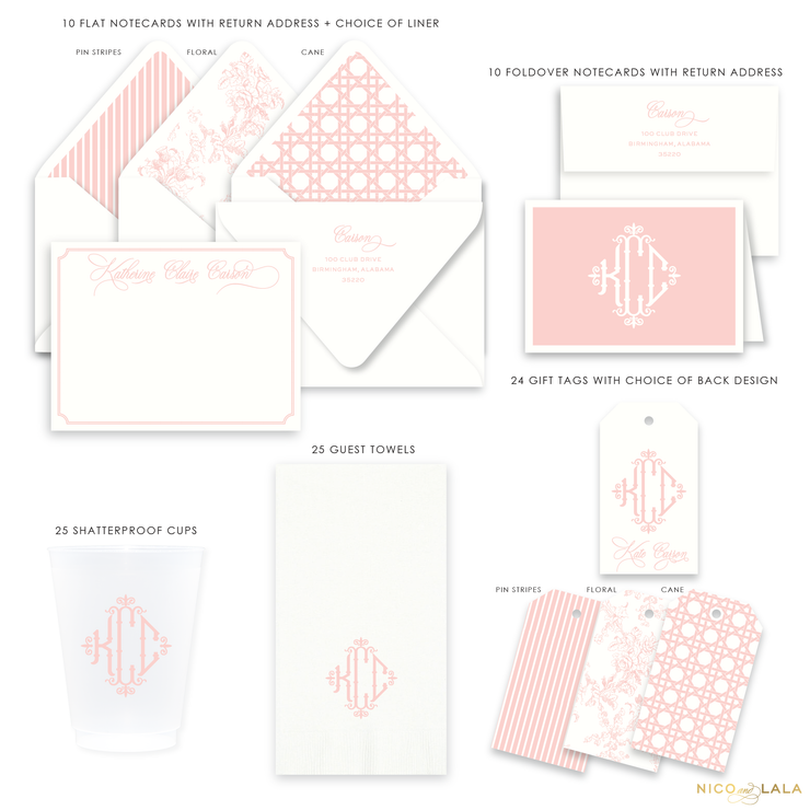 Charleston Monogram Gift Set