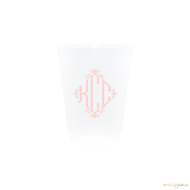 Charleston Monogram Shatterproof Cups