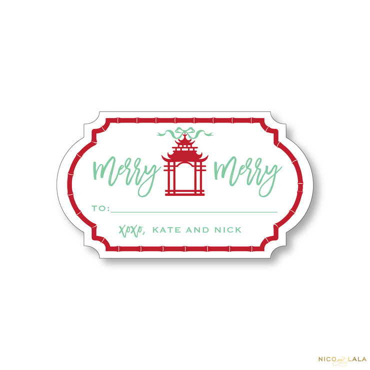 Chinoiserie Christmas Gift Stickers