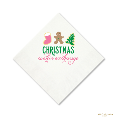 CHRISTMAS COOKIE EXCHANGE NAPKINS