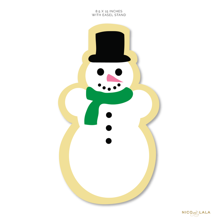 Die Cut Snowman with Easel