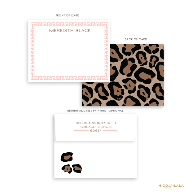 Classic Leopard Stationery