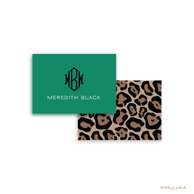 Classic Leopard Calling Cards