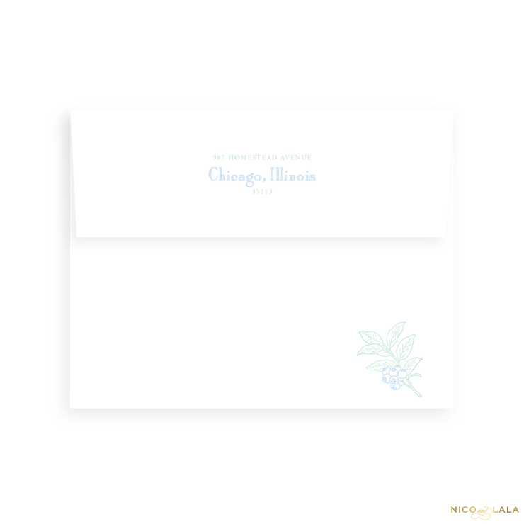 Classic Floral Birth Announcement Return Address Printing