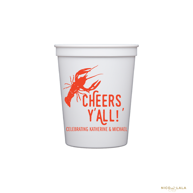 CRAWFISH STADIUM CUPS