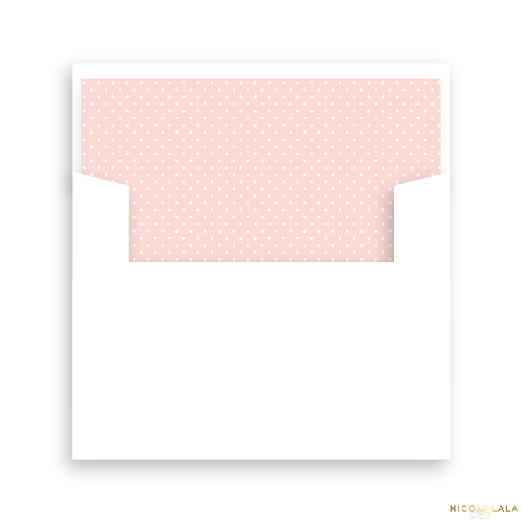 Cross Birth Announcement Lined Envelopes