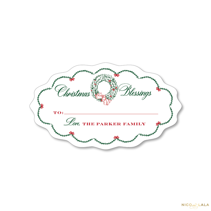 Decking New Halls Christmas Gift Stickers