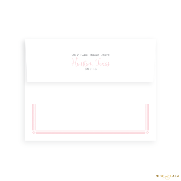 Elephant Birth Announcement Return Address Printing