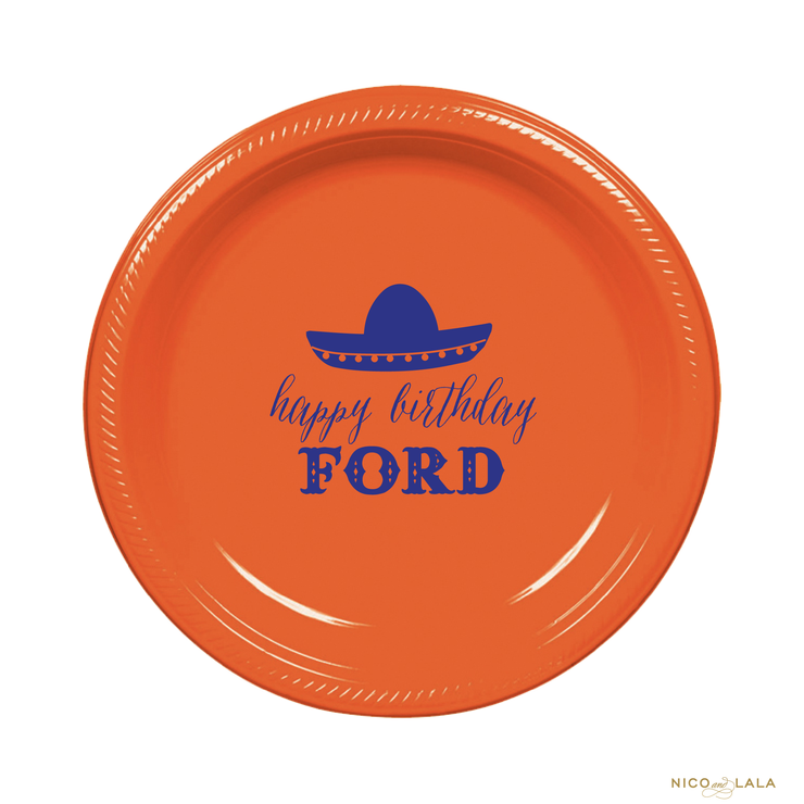 Fiesta Birthday Plates