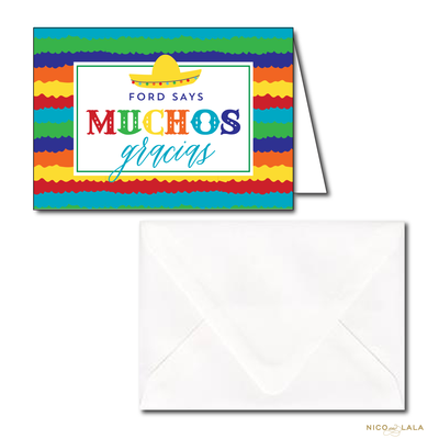 FIESTA BIRTHDAY THANK YOU NOTES