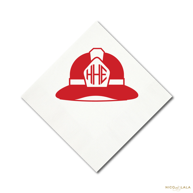 Fire Truck Birthday Napkins