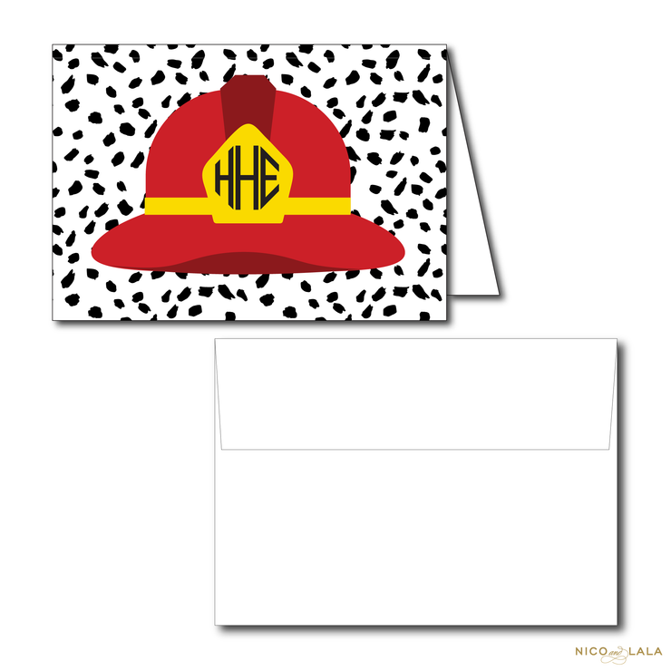 FIRE TRUCK BIRTHDAY THANK YOU NOTES