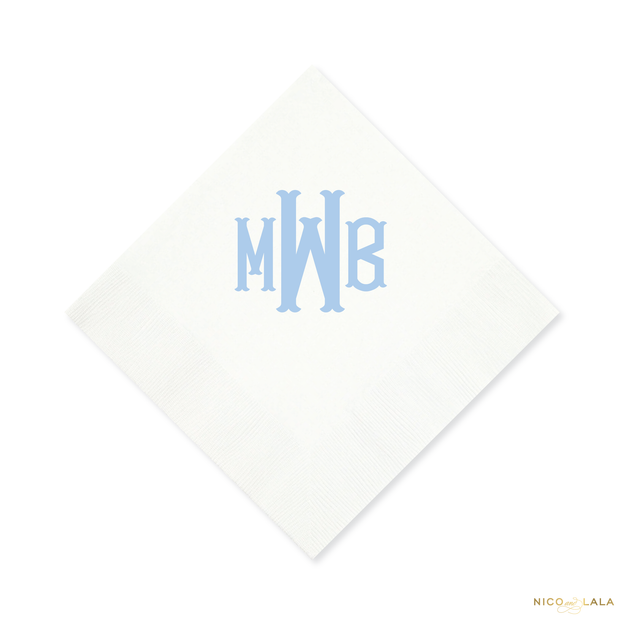 Fishtail Monogram Napkins