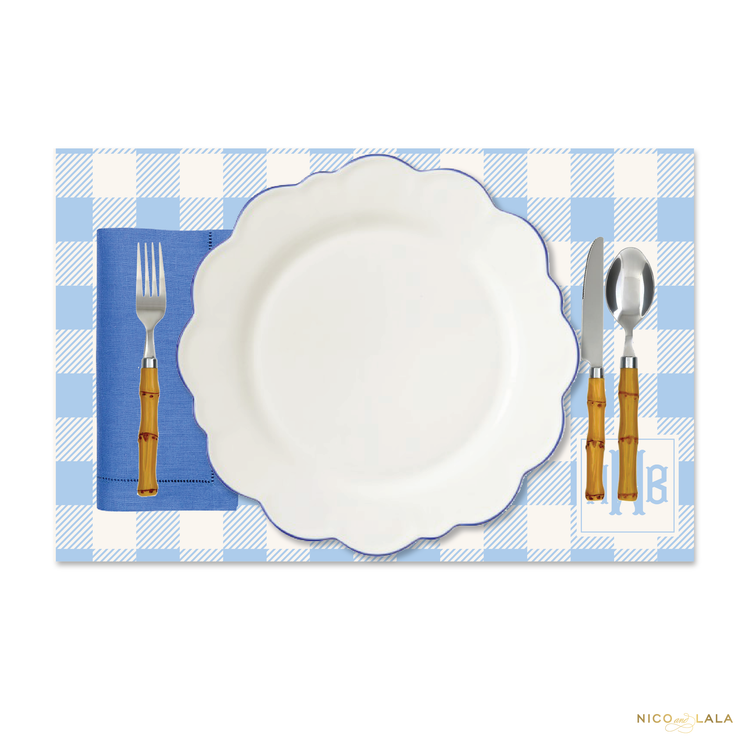 Fishtail Monogram Placemats