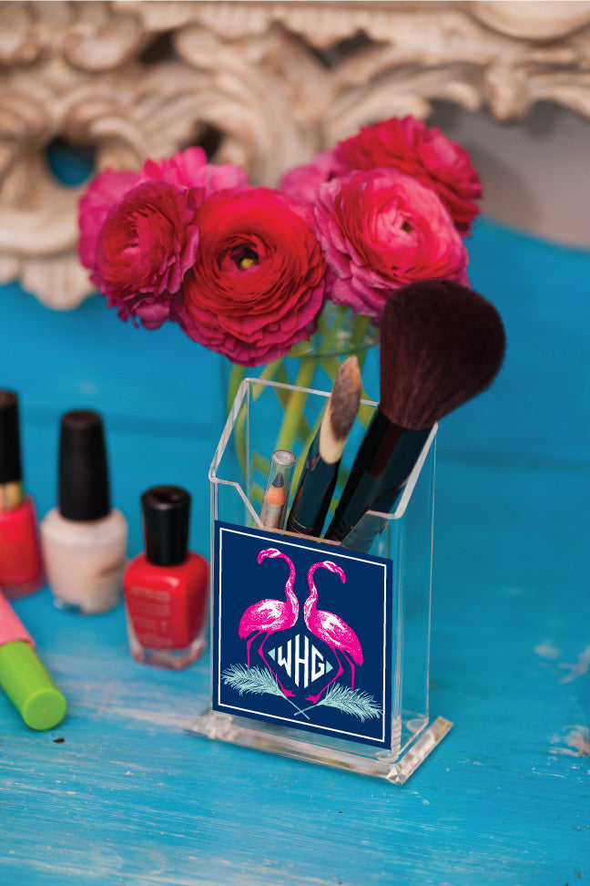 Flamingo Pencil/Make Up Brush Holder