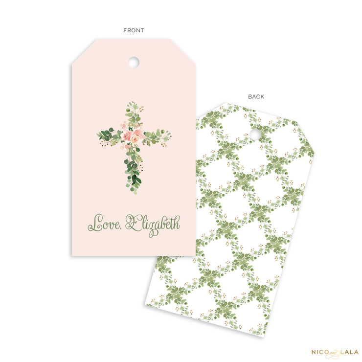 Floral Cross Gift Tags