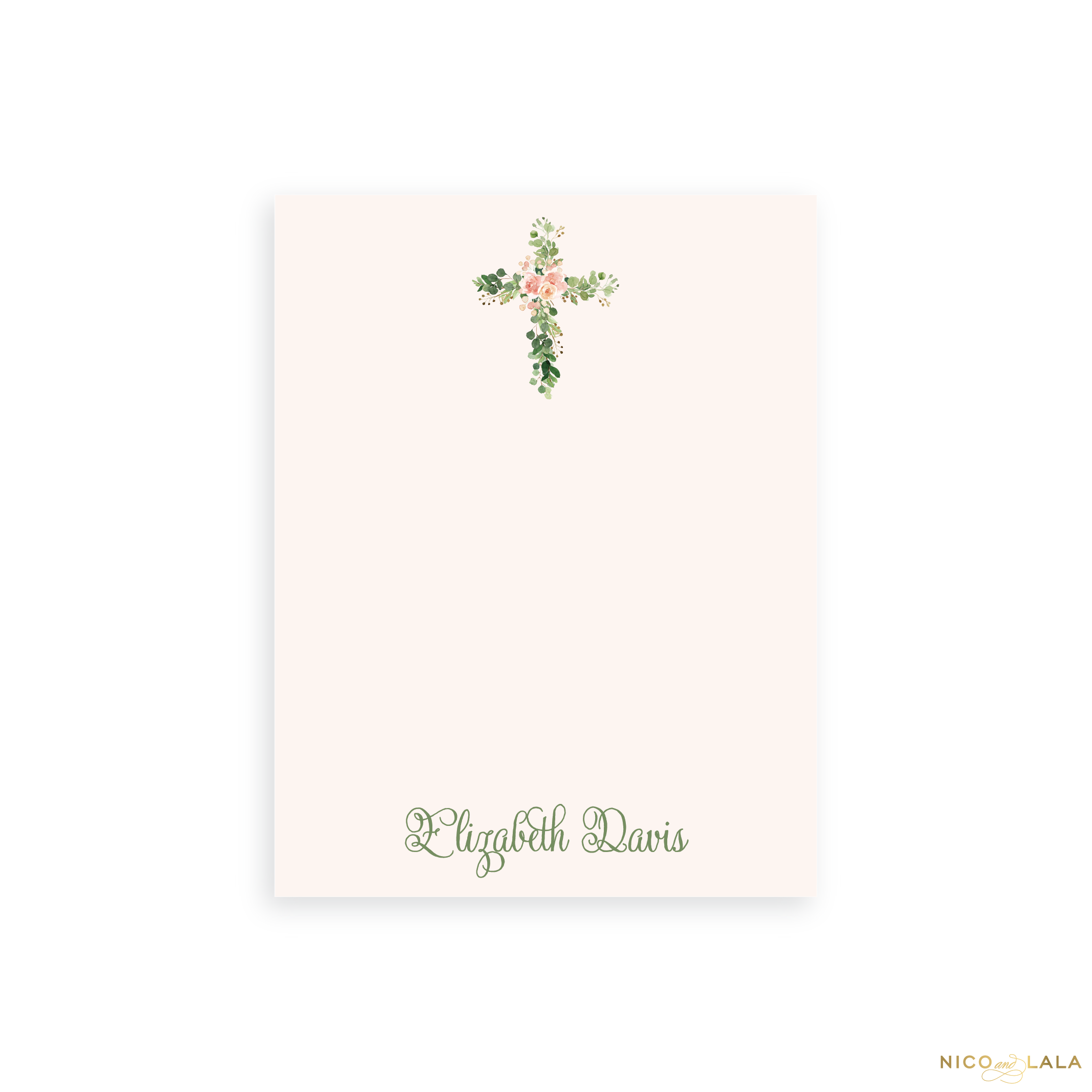 Petite Floral Cross Notepad