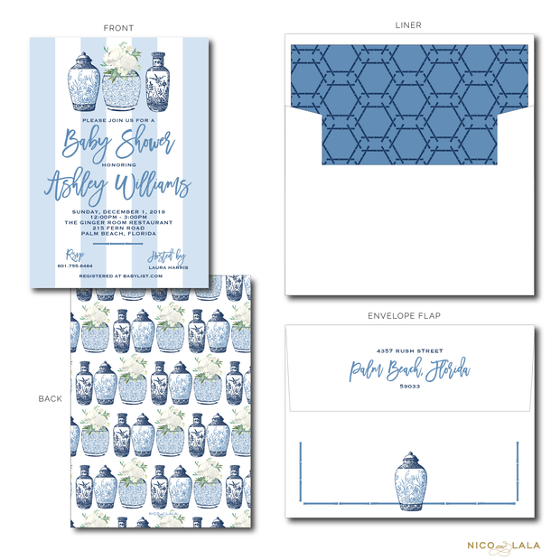 GINGER JAR INVITATIONS