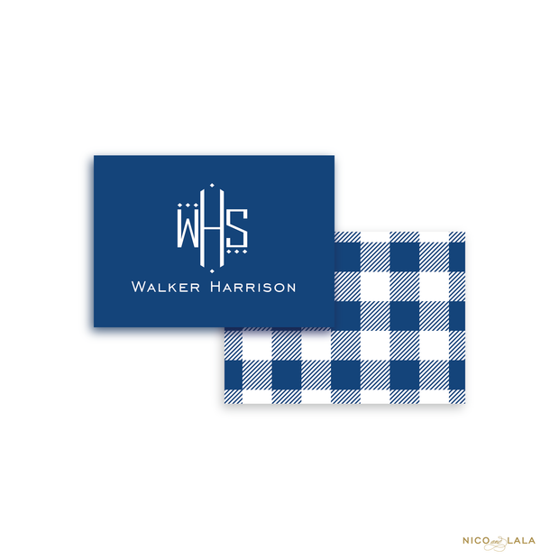 Gingham Calling Cards