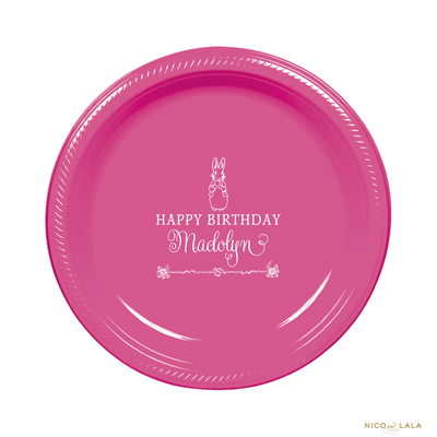 Girl Peter Rabbit Birthday Plates