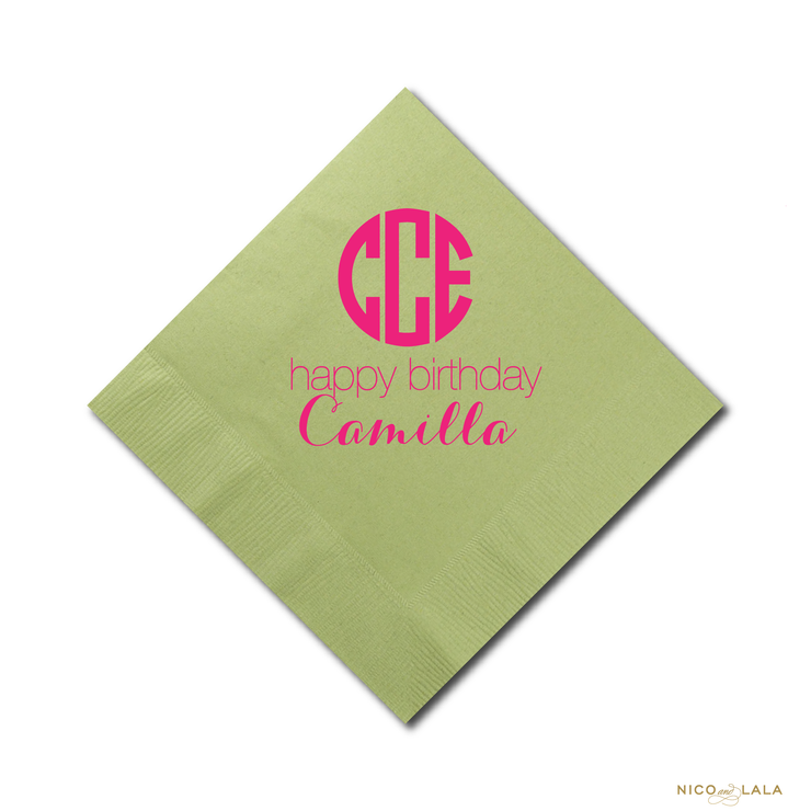 Girly Golf Birthday Napkins