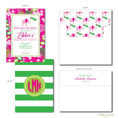 LILLY PULITZER BIRTHDAY INVITATIONS