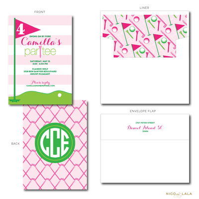GIRLY GOLF BIRTHDAY INVITATIONS