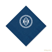Greek Key Monogram Napkins