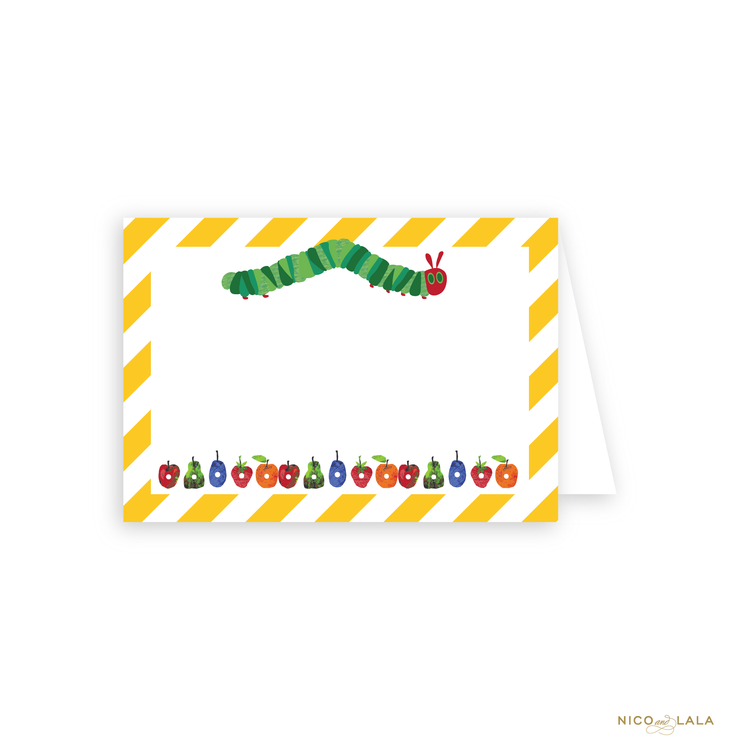 HUNGRY CATERPILLAR BIRTHDAY FOOD CARDS