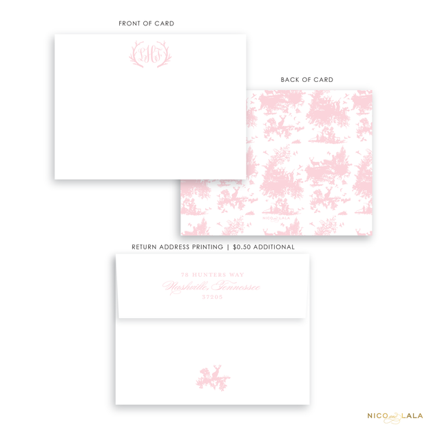 Hunting Toile Stationery
