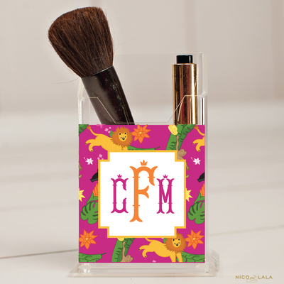 Jungle Pencil/Make Up Brush Holder