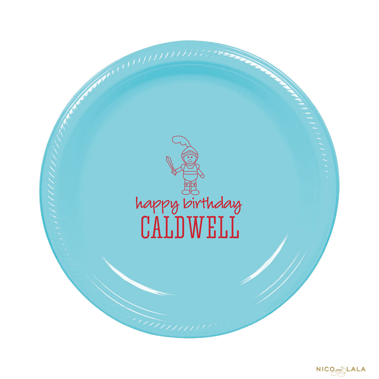 Knight Birthday Plates