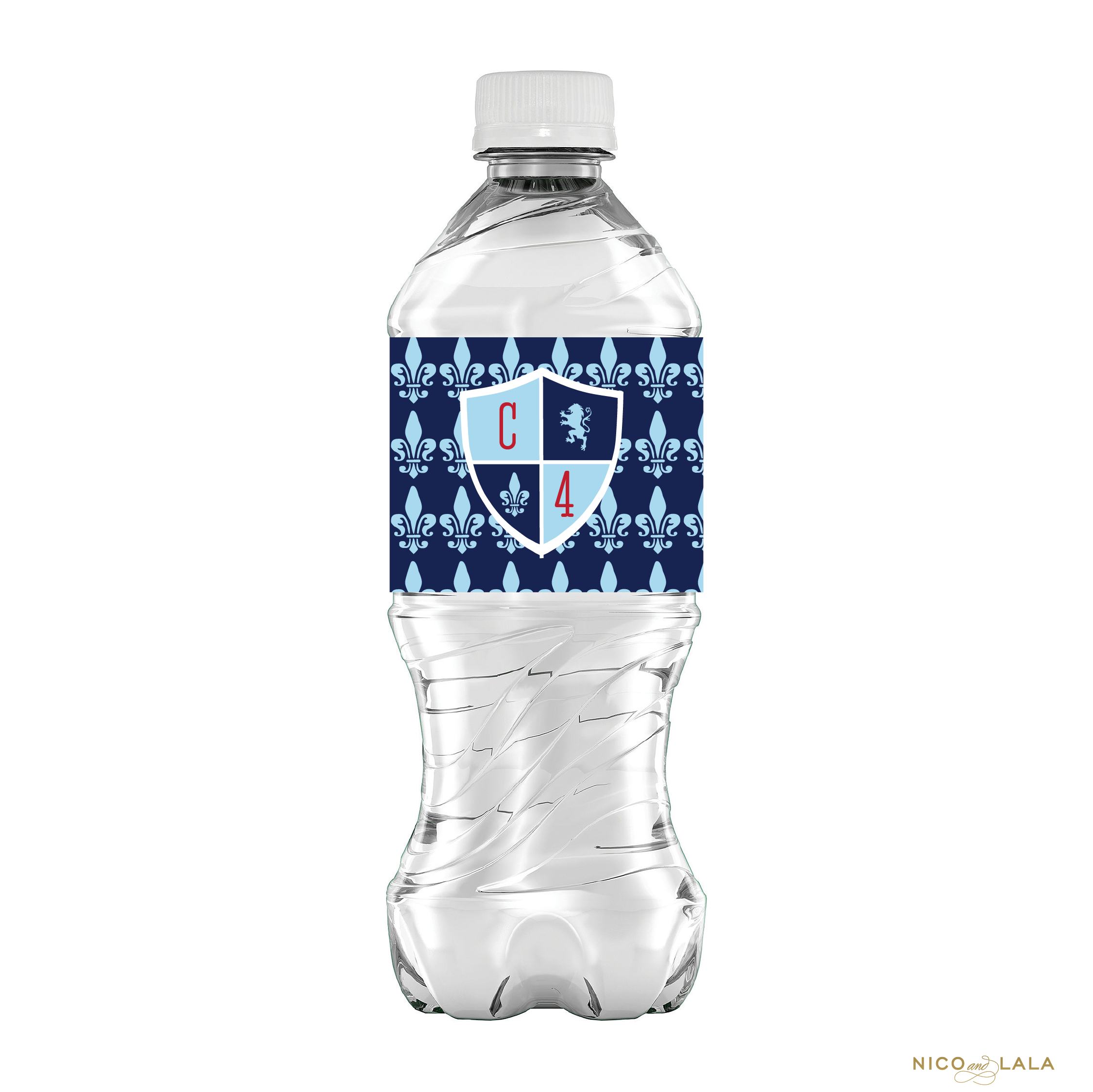 Knight Birthday Water Bottle Labels
