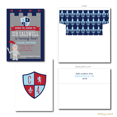 KNIGHT BIRTHDAY INVITATIONS