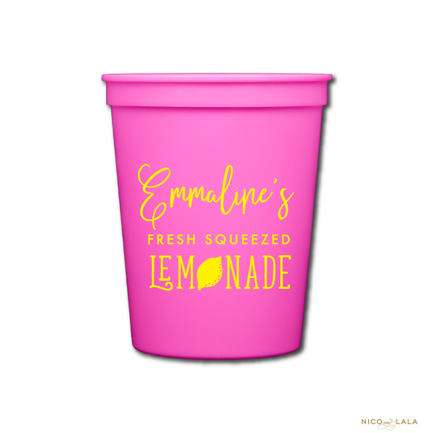 LEMONADE BIRTHDAY CUPS