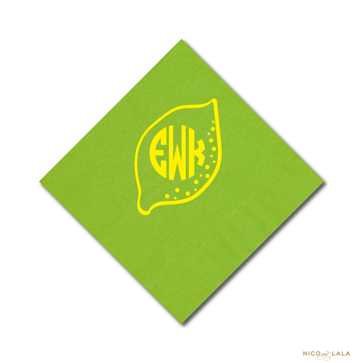 Lemonade Birthday Napkins