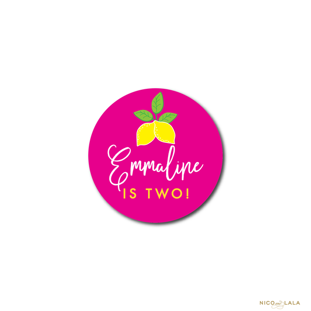 LEMONADE BIRTHDAY STICKERS