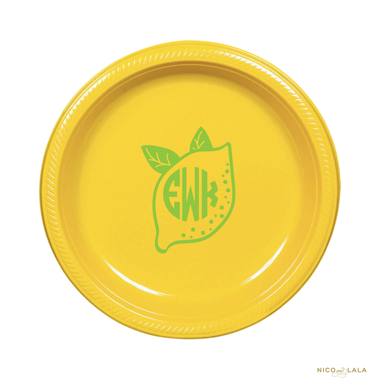 Lemonade Birthday Plates