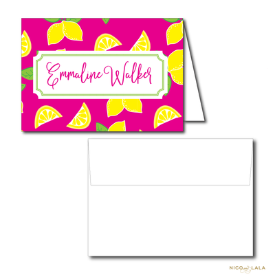 LEMONADE BIRTHDAY THANK YOU NOTES