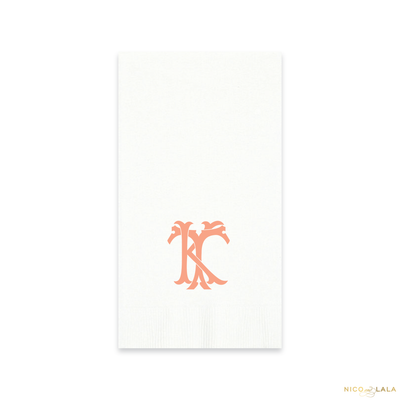 Magnolia Monogram Guest Towels