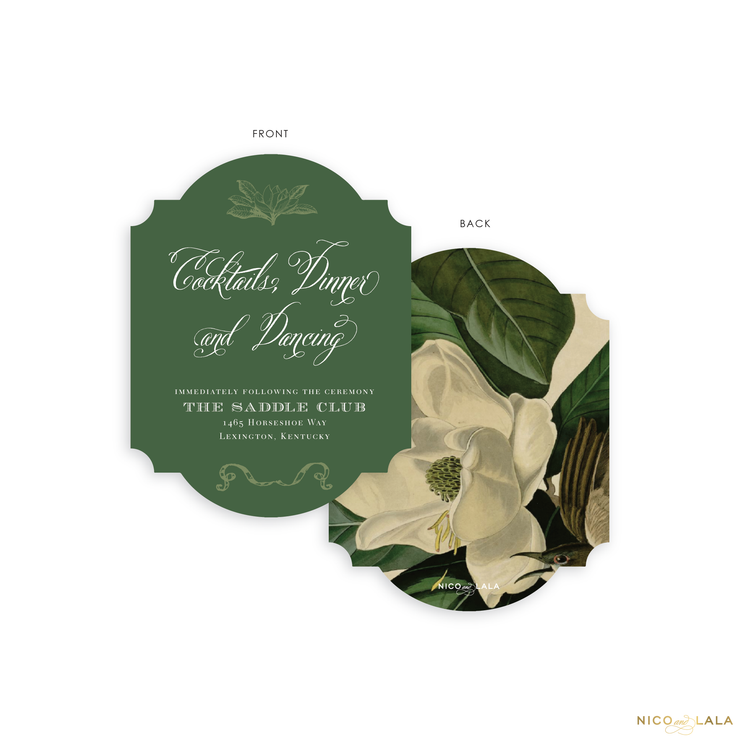 Magnolia Reception Cards